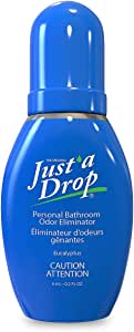 JUST A DROP - Pre-Poop Toilet Odor Eliminator – Truly Incognito Light Scent (0.2 fl. oz. Travel Size)