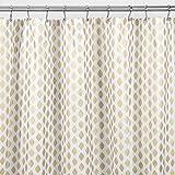Gold Shower Curtain mDesign Diamond Fabric Shower Curtain - 72