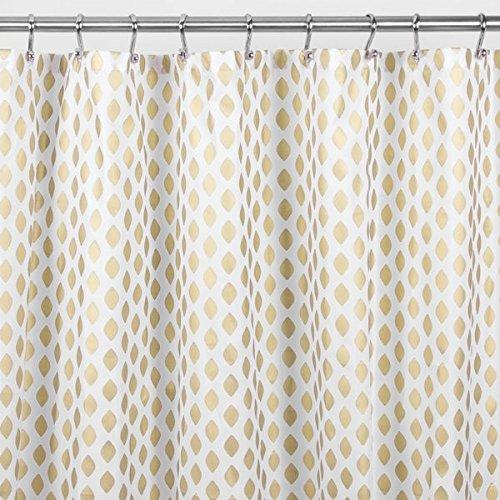 mDesign Diamond Fabric Shower Curtain