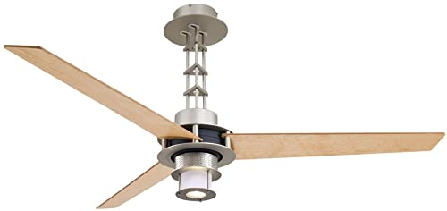 Minka Aire F529-L-BS CH One Light Brushed Steel Chrome Ceiling Fan