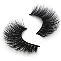 Niome 7 Pairs 5D Mink Hair Natural False Eyelashes Long Curly Menmade Crossed Eye Lashes