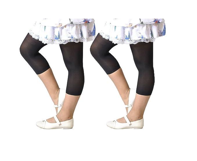 1c43f65c70e95 Amazon.com: CALZITALY 2 Pairs Girls Cropped Leggings | Capri ...