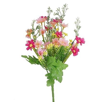 Amazon cjeslna 1 bunch cineraria artificial flower bouquet home cjeslna 1 bunch cineraria artificial flower bouquet home office decor rose red and pink mightylinksfo