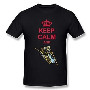 HM Men's T Shirts Keep Calm Skiing Size 3X Black
