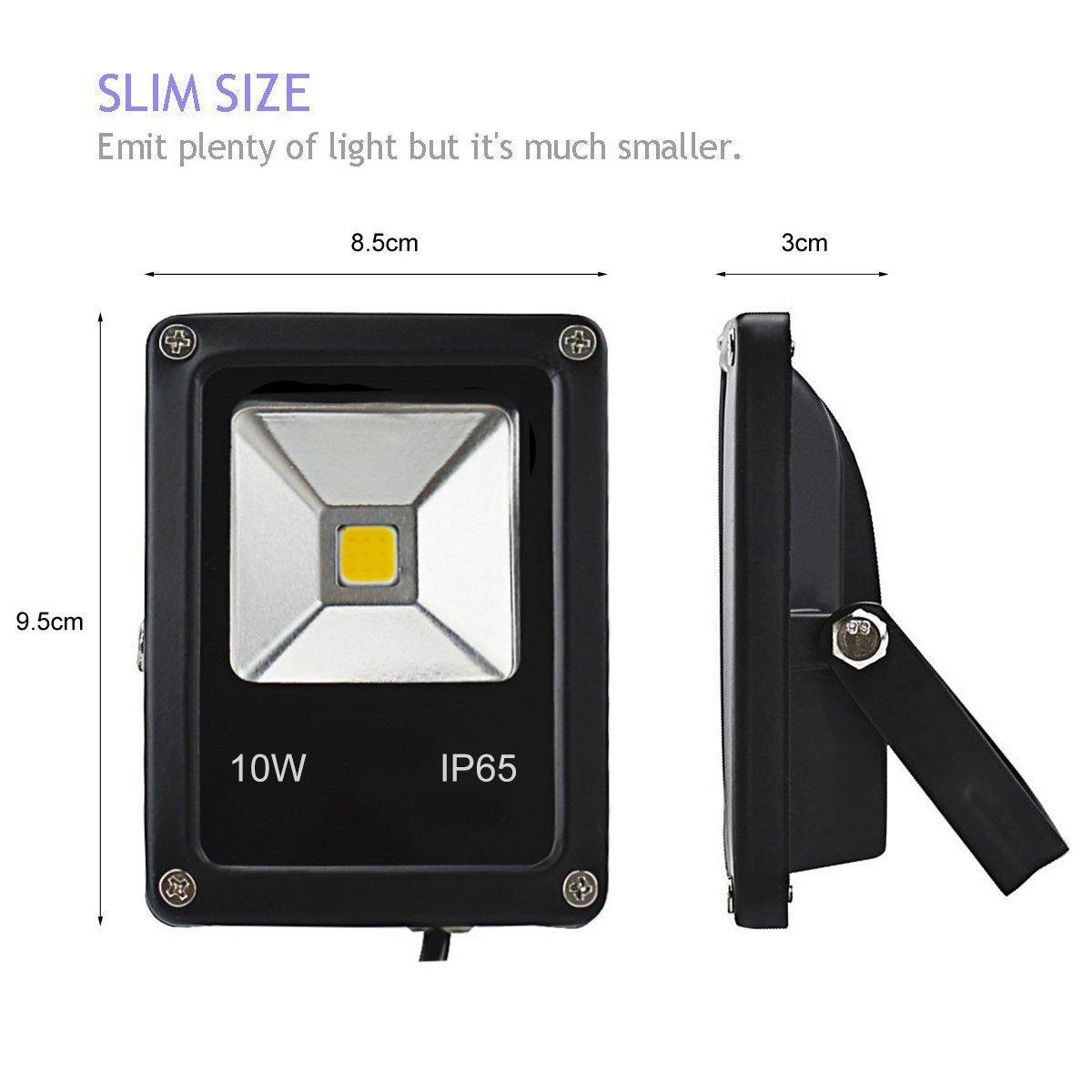 Outdoor Lighting Lowest 100pcs Led Spotlight 10w Led Flood Light Ip65 900lm Ac85-265v Cool White Rgb 10watt Led Outdoor Flood Light