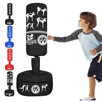 ONEX - Saco de Boxeo de pie para niños, Black M2: Amazon.es ...