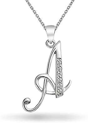 ALPHABET Lettre Pendentifs Argent Sterling 925 Meilleur Prix Bijoux Cadeau Initiale B
