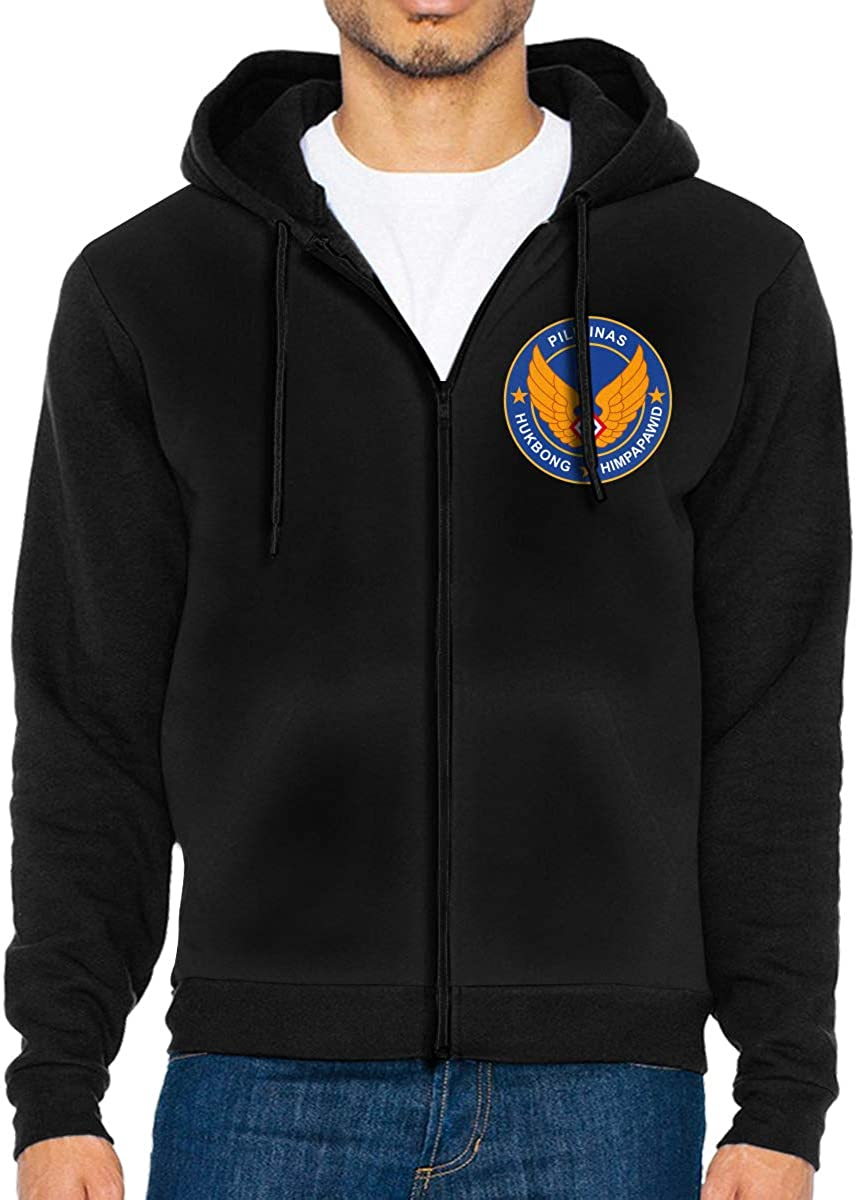 Philippine Air Force Mens Full-Zip Up Hoodie Jacket Pullover Sweatshirt