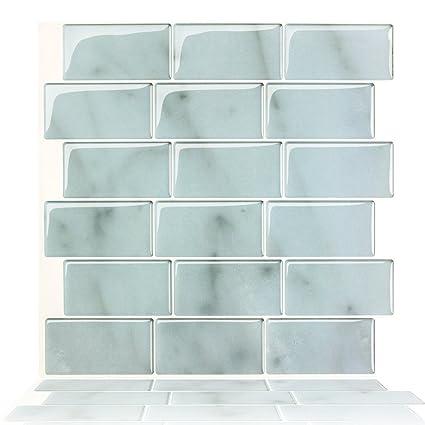 TYS Peel and Stick Self-adhesive Decorative Kitchen/Bathroom Backsplash  Sticker Marble Design,12\