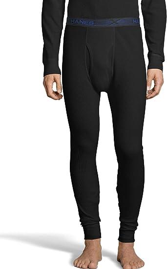 Hanes Men/'s Thermal Pants Tall Organic Cotton Ultimate X-Temp Waffle Knit Soft