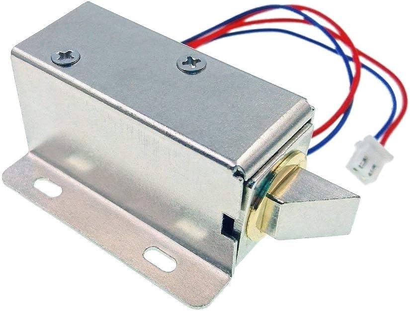 JZK® DC 12V cerradura magnética puerta eléctrica bloqueo de solenoide eléctrica asamblea candado de seguridad para sistema de seguridad armario de puertas de seguridad