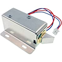 JZK® 12V 0.6A Solenoide per serratura elettrica per armadietto e cassetto o porta del sistema di sicurezza