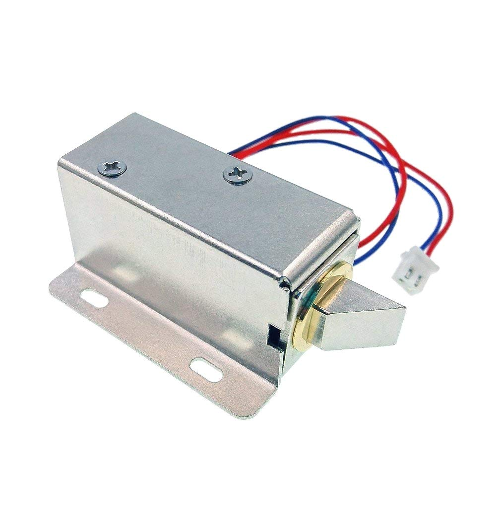 JZK DC 12V Electric Solenoid Lock Assembly Security Lock for Security System safes Door Cabinet