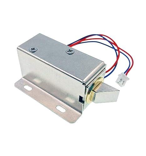 JZK® DC 12V Cerradura magnética Puerta eléctrica Bloqueo de solenoide eléctrica asamblea candado de Seguridad para Sistema de Seguridad Armario de ...
