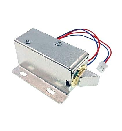JZK® DC 12V cerradura magnética puerta eléctrica bloqueo de solenoide eléctrica asamblea candado de seguridad