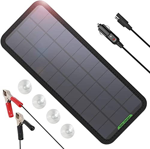 GIARIDE 7.5W Solar Battery Trickle Charger Maintainer
