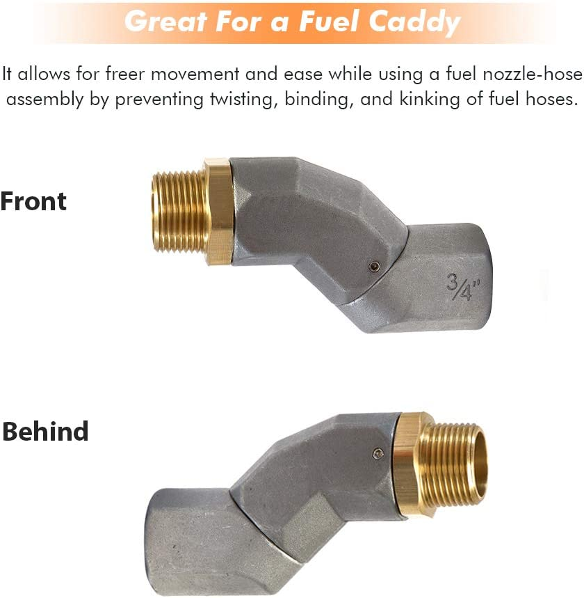 Fuel Hose Swivel 3//4 Inch with Male and Female Roating Connector Fuel Plane Swivel Fuel Nozzle