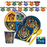 Harry Potter Party Supplies for 16 Guests - Plates, Napkins, Cups, & Cutlery