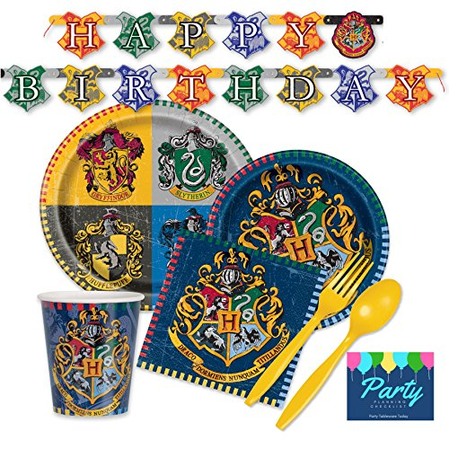 Harry Potter Party Decorations (Harry Potter Party Supplies for 16 Guests - Plates, Napkins, Cups, & Cutlery)
