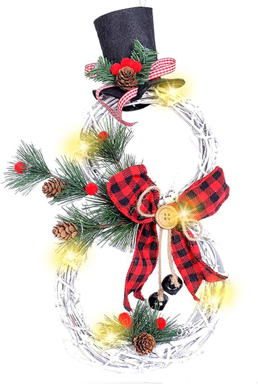 XIAXAIXU Christmas Wreath Hanging Decor Xmas Party Door Wall Garland Ornament Decors Party Decoration (One Size, A-1)