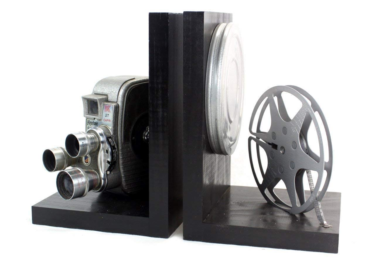 Vintage Camera Bookends - Keystone K26/K27 Capri Triple Turret - DVD Holder  - Movie Theater Decor