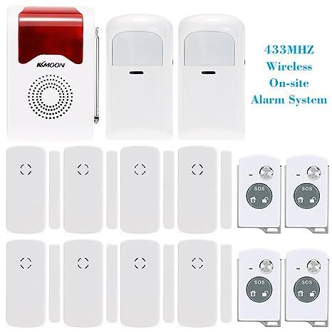 KKmoon antirrobo sistema de alarma 433 mhz inalámbrica in situ Home sistema de alarma de seguridad