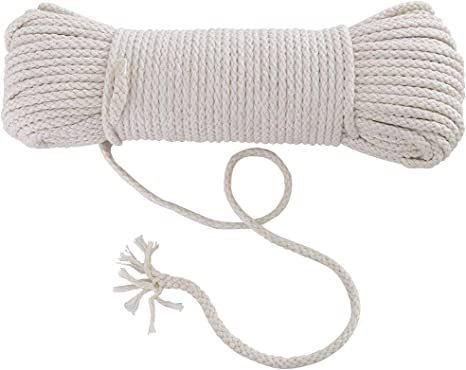Handmade Decorations Natural Cotton Bohemia Macrame DIY Wall Hanging Plant Hanger Craft Making Knitting Cord Rope Natural Color Beige Macram/é Cord Linen Grey, 5mm x 50m About 55 yd