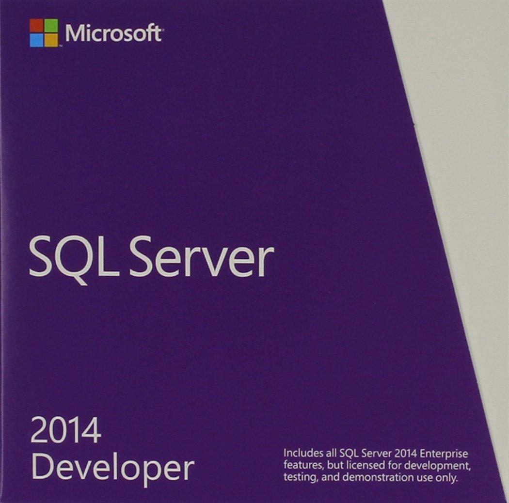 SQL Server Developer Edition 2014 English US Only DVD 1 Clt by Microsoft