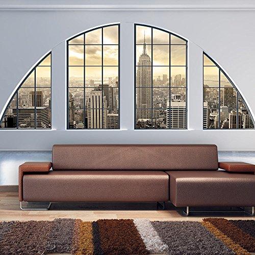 Vlies Fototapete 350x245 cm ! Top - Tapete - Wandbilder XXL - Wandbild - Bild - Fototapeten - Tapeten - Wandtapete - Wand - Fenster Stadt c-C-0002-a-a