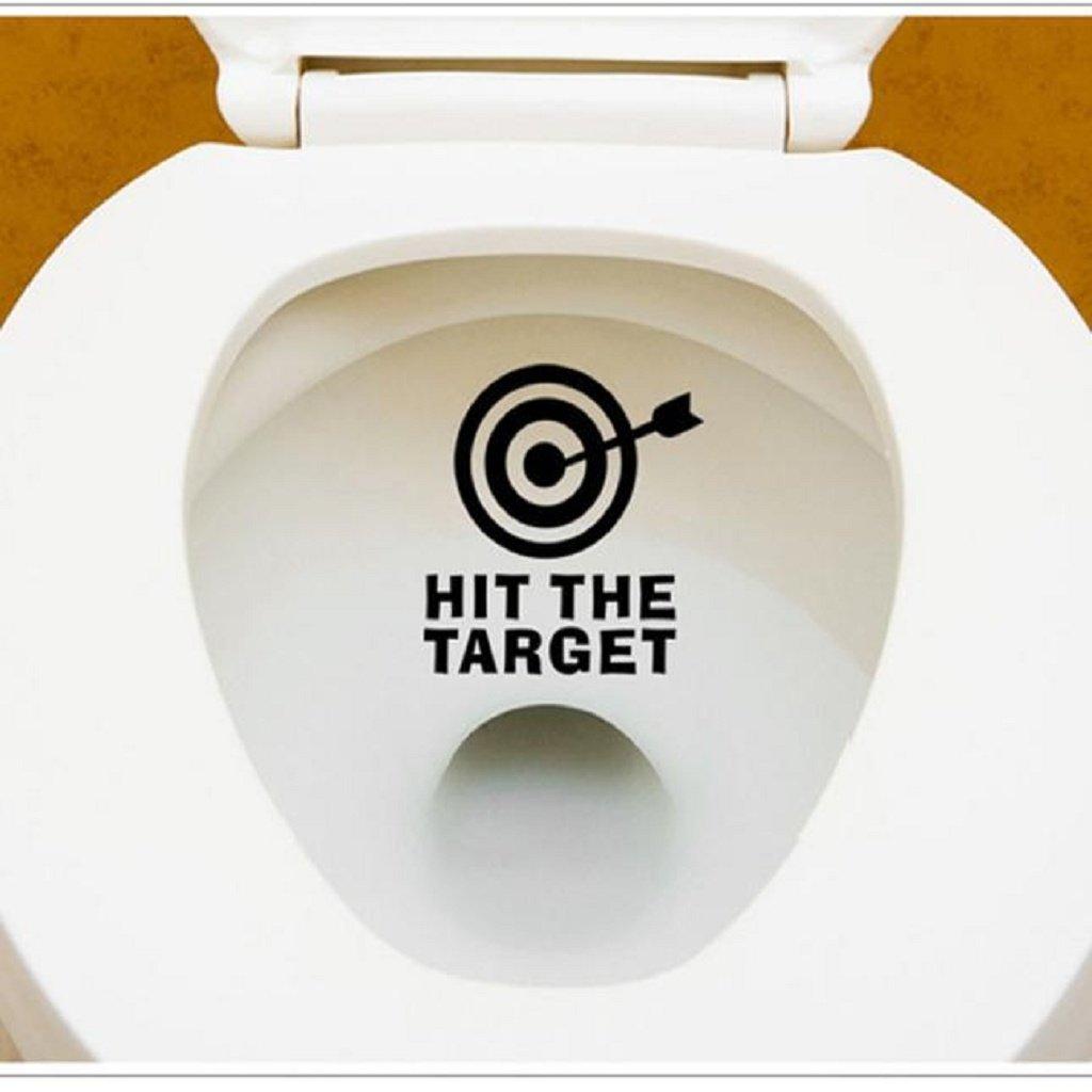 Ecosin DIY Sticker Bathroom Toilet Seat Sticker Toilet Decal Removable Sticker Arrow&Target