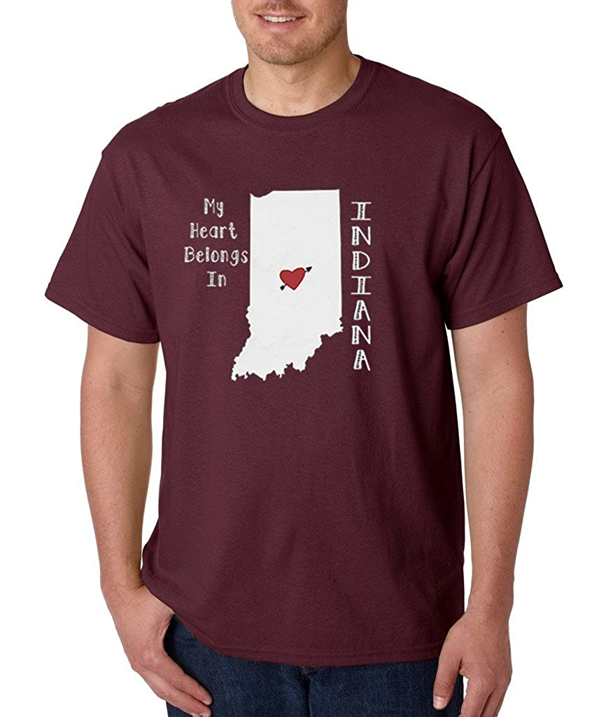 My Heart Belongs in Indiana T-shirt Indiana State Home Shirts
