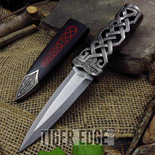 "New 9"" Green Jewel Ceremonial Celtic Fantasy Dagger ProTactical'US - Limited Edition - Elite Knife with Sharp Blade w/ Scabbard"