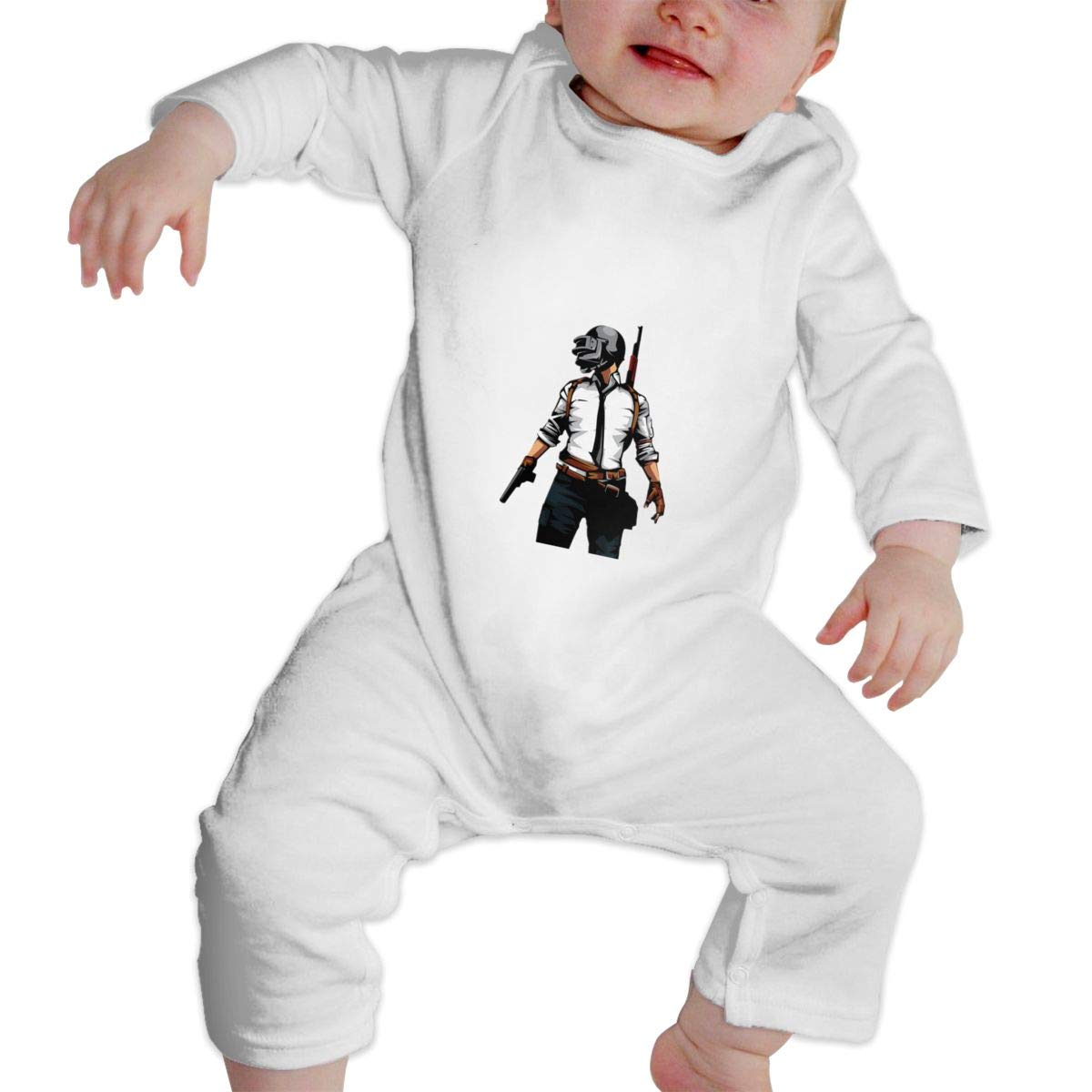 Fasenix Army Pose Newborn Baby Boy Girl Romper Jumpsuit Long Sleeve Bodysuit Overalls Outfits Clothes