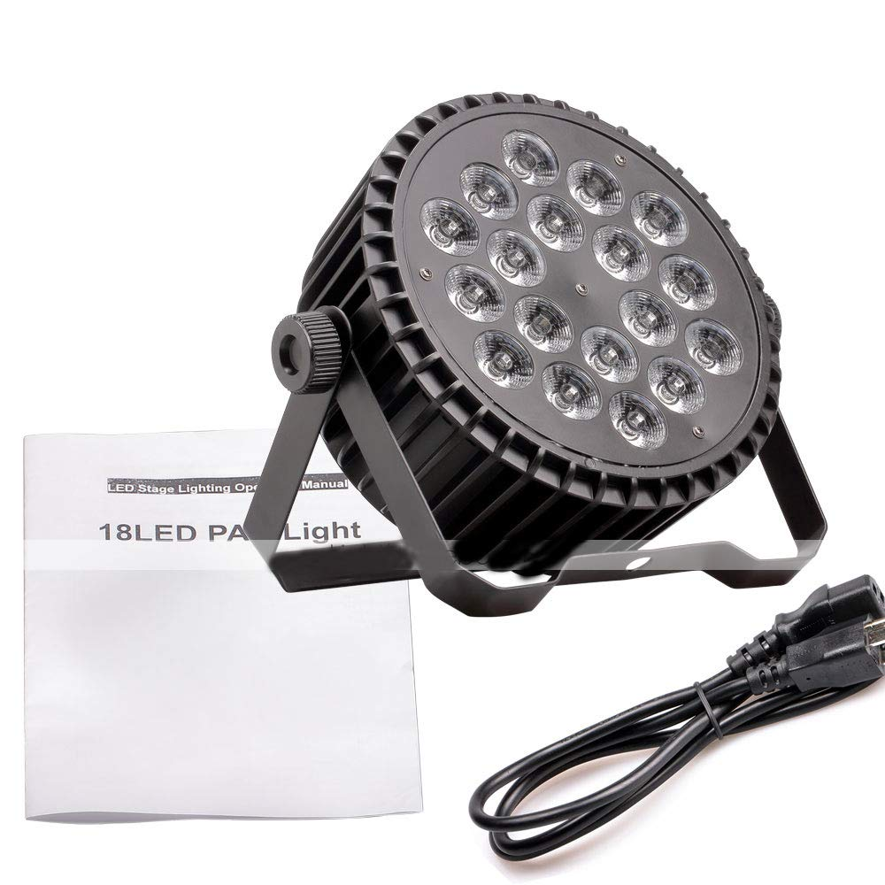 YICIX LED Stage Light/Spot Light/LED Par Lights 8 DMX 512 / Master-Slave/Sound-Activated 200W for Party/Stage/Wedding Professional