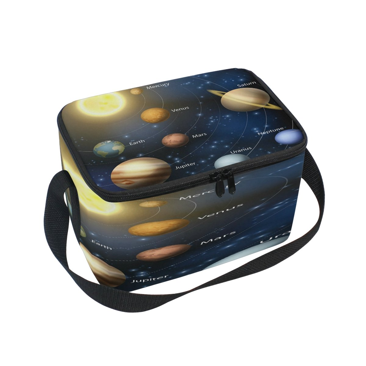 Use4 Solar System Planet Outer Space Insulated Lunch Bag Tote Bag Cooler Lunchbox for Picnic School Women Men Kids