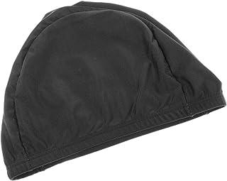 FLAMEER Femmes Unisexes Adultes Mens Caps Nager Piscine Casquette Natation Chapeau Cheveux Longs Gris