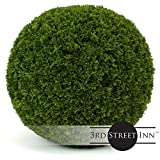 Cypress Topiary Ball - 19'' Artificial Topiary Plant - Wedding Decor - Indoor/Outdoor Artificial Plant Ball - Topiary Tree Substitute (2, Cypress)