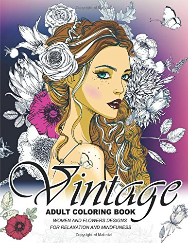 Vintage Coloring Books Adults coloring product image