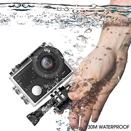 61v4nxSwEPL - DBPOWER N5 Pro WiFi Action Camera 4K Ultra HD 20MP Sports Camera 30m Underwater Waterproof 170 Degree Adjustable Wide Angle Lens Camcorder with 2 Rechargeable Batteries and Mounting Accessories Kit