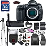 Canon EOS 5D Mark IV DSLR Camera (BODY ONLY) with TTL Flash, Tripod, Mono-Pod, Battery Grip + Professional Accessory Bundle