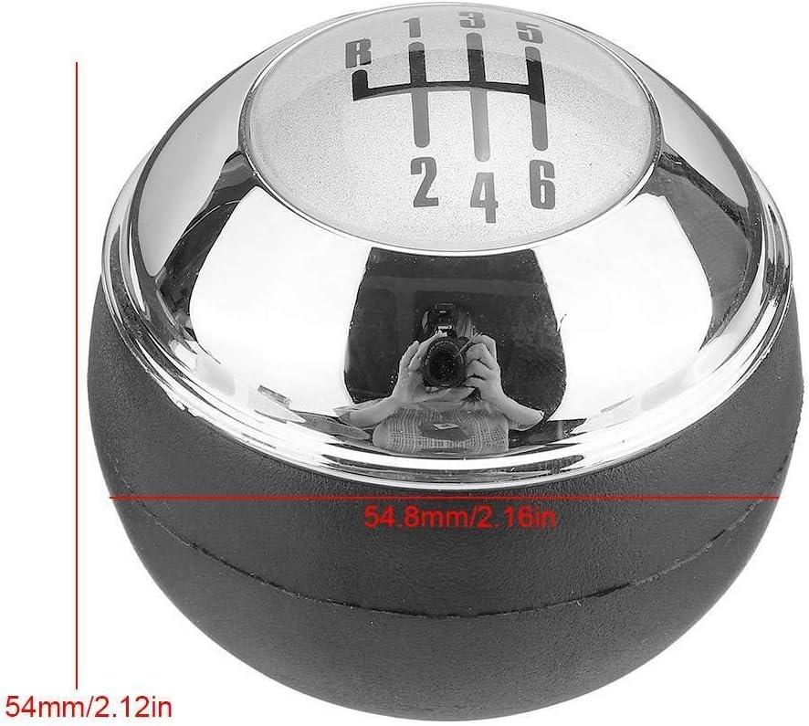 NO LOGO 1pc 6 Chrome Vitesse POMMEAU Shifter Levier /à Billes for Mini One D R50 R52 R53 Cooper S 3 Portes 2001-2008 Bit de Poids Faible Pommeau de Levier