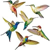 Yililay Hummingbird-raamstickers, 6 stuks, glazen raamstickers voor terrasdeuren, anti-botsingen, raam-slings, creatieve…