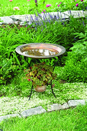Happy Gardens 2-Tier Flamed Bird - 2 Birdbath Tier