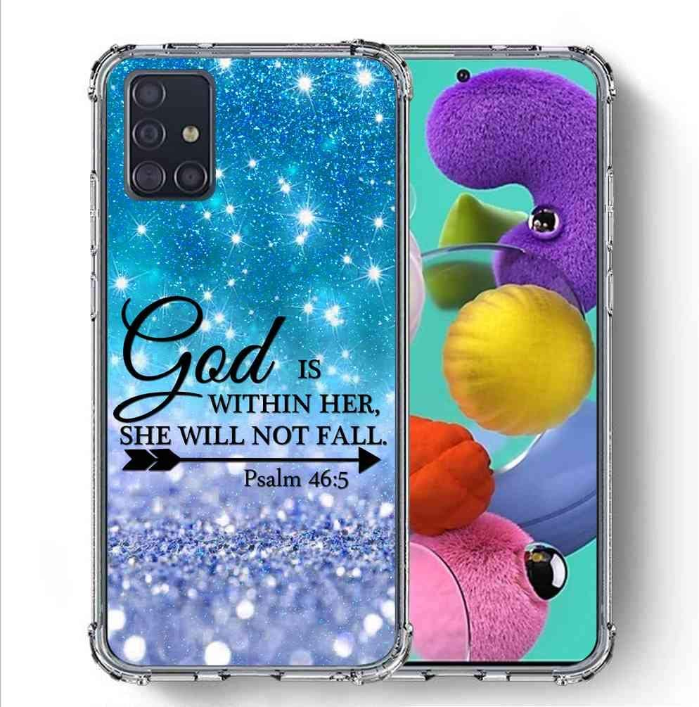 SuperbBeast Samsung Galaxy A51 5G/ Galaxy A51 5G Verizon UW, [Not fit A51 4G ] Case [Psalm 46:5 God is Within her, she Will not Fall] Ultra Slim Thin Protective Case Cover/Reinforced Corner