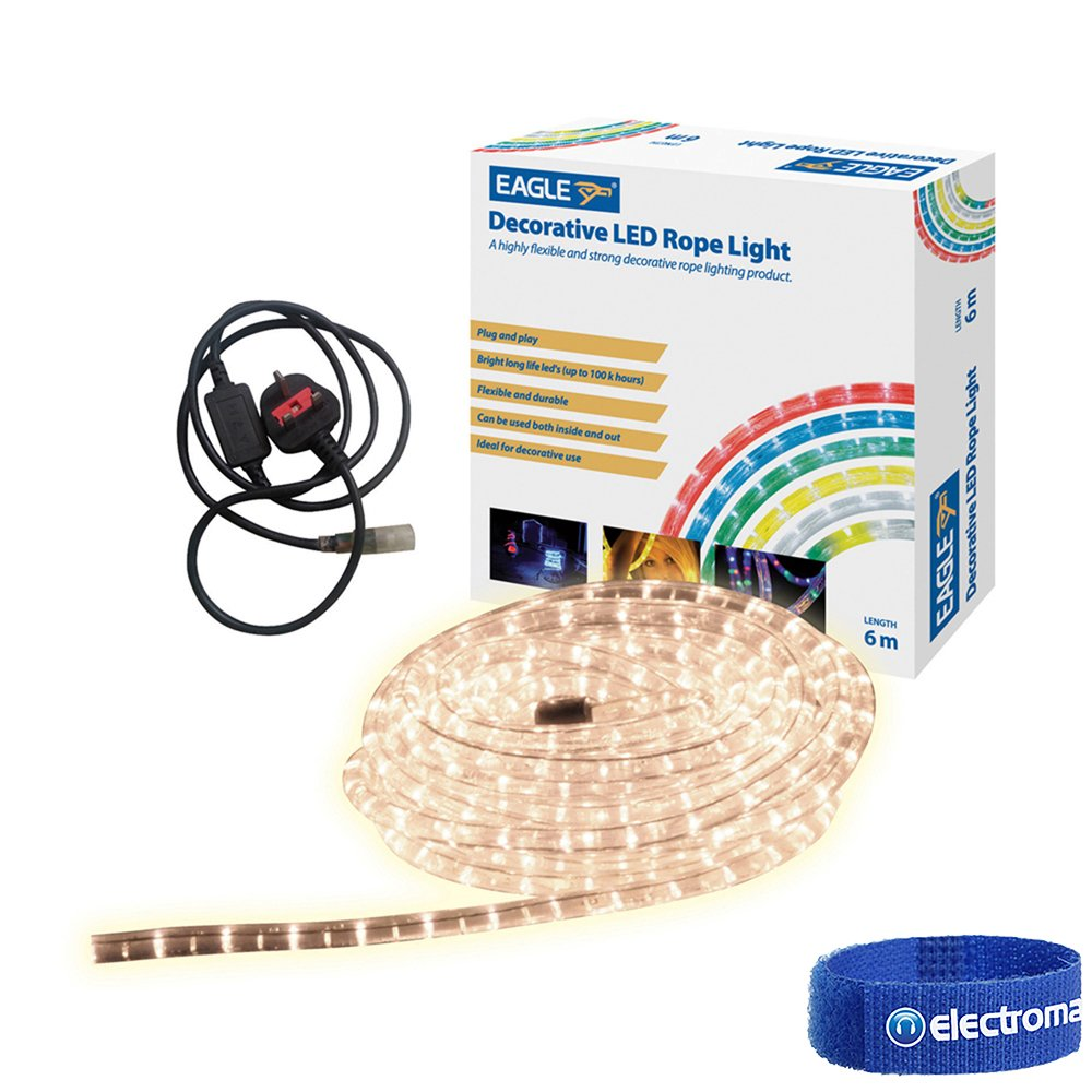 Eagle G601AE Ice White Static LED Rope Light 6m Electrovision Ltd