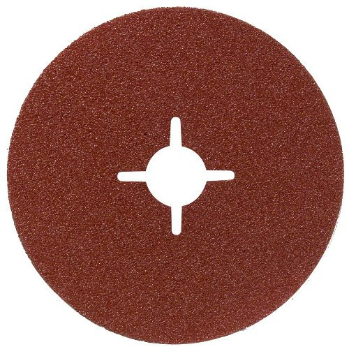 Bosch 2609256250 Fibre Sanding Disc for Angle Grinder Clamped for Wood and Metal 125 mm Disc, 22 mm Bore, 36 Grit Robert Bosch