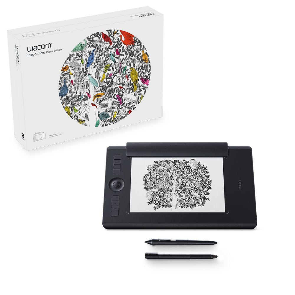Wacom PTH660P Intuos Pro Paper Edition Digital Graphic Drawing Tablet for  Mac or PC, Medium, Black