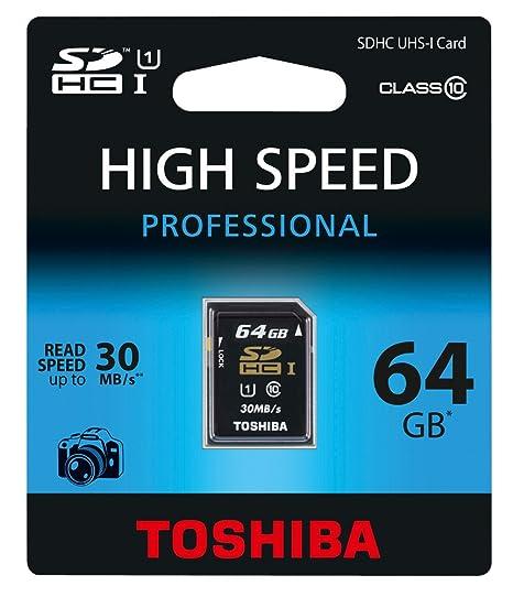 Toshiba 64GB SDXC - Tarjeta de Memoria (64 GB, Secure ...