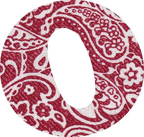 ペイズリー柄 生地 アルファベット O アップリケ レッド アイロン接着可能 大文字 coop (7cm)の商品画像