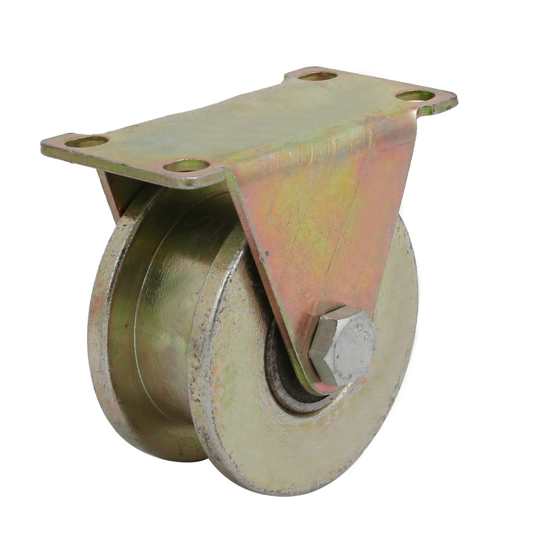 uxcell 80mm Dia Wheel H Groove Bearing Rigid Caster Wheel Industrial Hardware